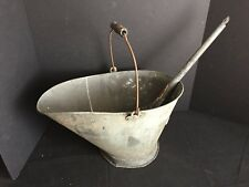 Antique Coal or Ash Bucket with Shovel