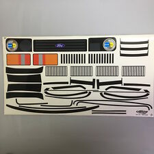 Dekorbogen 1:5 Ford Capri Fahrzeugdekor Aufkleber Carson 807006 800097
