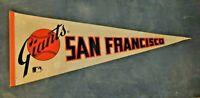 San Francisco Giants Full Size MLB 1970s White, Orange & Black Felt Pennant