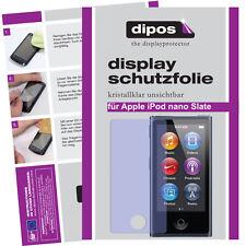 2x Apple iPod Nano Slate 7G Protector de Pantalla protectores transparente