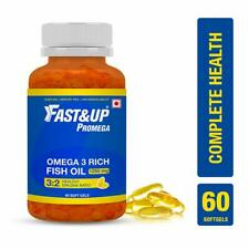 Fast&Up Promega Omega 3 Rich Fish Oil 1250 Mg 60 Softgels Free Shipment