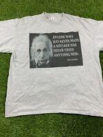 VTG Foot Locker Albert Einstein Men 2XL Short Sleeve Tee Shirt