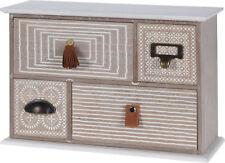 Schubladenschrank mit 4 Schubladen Schubladenkommode Holz Mini Kommode