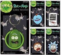Rick And Morty Keychain Keyring Pickle Rick Sanchez Face Head Portal Gun Science