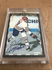 PINNACLE ERIC LINDROS ROAD TO THE NHL AUTO CARD VERY RARE #1/1