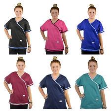 ScrubShine Medical Scrubs Crossover Top/ Uniform Nurse BN- Choose Size & Colour