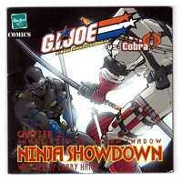 2002 GI G.I. JOE vs. COBRA Snake-Eyes vs. Storm Shadow NINJA SHOWDOWN mini-comic