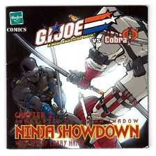 2002 GI G.I. JOE vs. COBRA Snake-Eyes vs. Storm Shadow NINJA SHOWDOWN mini-comic