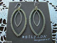"""Growing"""" Earrings W3073 New! Silpada Sterling Silver Brass """"Get"""