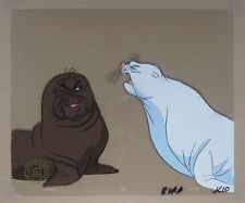 The White Seal (1975) - Kotick and Sea Catch - Original Production Animation Cel