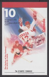 CANADA BOOKLET BK201b 45c x 10 THE SERIES OF THE CENTURY, OPEN COVER WITH TI