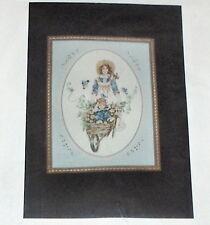 "Janlynn ""Garden Ride"" Mother / Child & Flowers in Wheelbarrow Cross Stitch Kit"