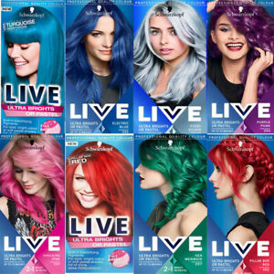 Ultra Brights or Pastel LIVE Colour Hair Dye by Schwarzkopf Semi Permanent 2in1