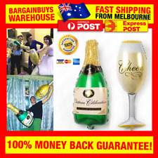 Giant Champagne Bottle & Glass Party Balloon Wedding NYE New Years Birthday 21st