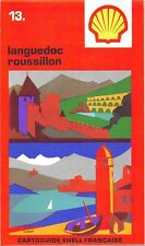 Cartolina Stradale collector- Cartoguide SHELL Francese Languedoc Roussillon N°