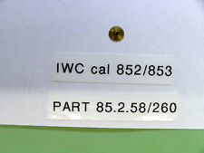 IWC cal 852 / 853 Hour wheel part  85 2 58                260