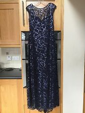 Navy/purple shiny formal/prom dress, tall dress, size 12/14, length- 160CM
