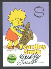 THE SIMPSONS 10th ANNIVERSARY (Inkworks 2000) AUTOGRAPH CARD #A3 YEARDLEY SMITH
