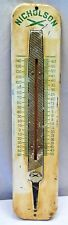 NICHOLSON HAND FILE ADVERTISE THERMOMETER SIGN TIN MADE IN ENGLAND COLLECTIBLES