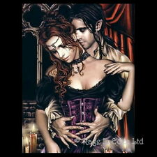 *ABRAZO EN ROJOS* Goth Fantasy Art 3D Print By Victoria Frances (39.5x29.5cm)