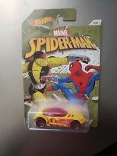 Hot Wheels Spiderman Golden Arrow Diecast Car Toys Kids Yellow Racing Flame Red