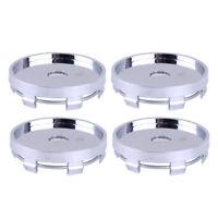 4x Centre Wheel Caps Hub 56mm Silver Cover No Logo 60mm Plain Cap Alloy Rim Set