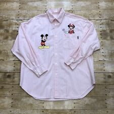 Too Cute Embroidered Mickey and Minnie Mouse Long Sleeve Shirt VTG 90s