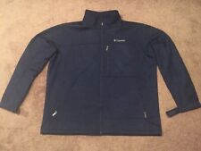 Columbia Ascender Softshell Mens Jacket Navy Omni-Shield Size XXL Water Wind