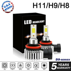 2X H11 H8 H9 LED Fog Light Conversion Kit Bulb 6000K 120W 24000LM Headlight Lamp