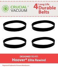 4 Durable Hoover Elite Rewind Vacuum Belts # 40201190 & 38528040