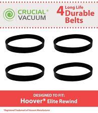 4 Durable Hoover Elite Rewind Vacuum Belts # 40201190 & 38528040
