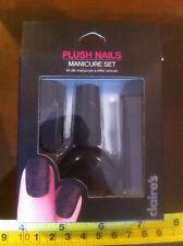 Claire's Claires Accessories Official Black Velvet Nail Manicure £7 RRP