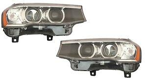 BMW X3 X4 2015-2018 XENON W/O ADAPTIVE HEADLIGHTS HEAD LIGHTS LAMPS PAIR