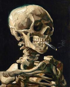 1886 Vincent van Gogh - Skull of a Skeleton with a Burning Cigarette - Art Print