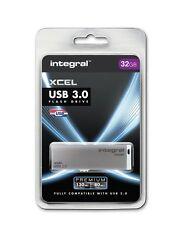 Integral Xcel 64GB USB 3.0 Capless Flash Drive INFD64GBXCE3.0
