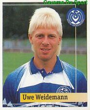 215 UWE WEIDEMANN GERMANY MSV DUISBURG STICKER FUSSBALL 1995 PANINI