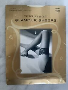Victoria's Secret Glamour Sheers Thigh High Stockings Luxurious Sheer  Size M