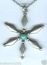 Medallion Necklace; Ant. St~ Unique! Lucky Brand Turquoise Star Charm