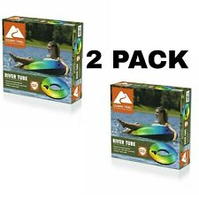 New listing 2 PACK - Ozark Trail River Tube Float - Rainbow Color Summer Water Pool Fun