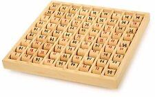 Multiplizier Tabelle für Kinder aus Holz Spielzeug Lernspiel Rechnen Mathematik