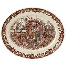 "Johnson Brothers His Majesty 15-1/2"" Oval TURKEY Platter NEW (S)"