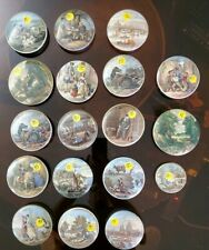Lot of 18 Vintage Porcelain Pincushion Inserts w Shakespeare and Other Scenes
