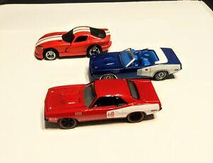 Greenlight Diecast Plymouth Barracuda, Hemi Cuda and HW Viper GTS