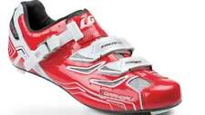 Louis Garneau Carbon Pro Team Men's Road Cycling Shoes Red EU 45.5 New