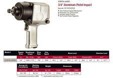 """Sidchrome 3/4"""" Aluminum PISTOL AIR IMPACT WRENCH 6 POSITIN SCMTSA34SHD RRP$2069"""