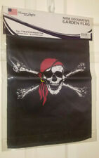 12x18 Jolly Roger Red Hat Pirate Mini Decorative Flag~All Weather Polyester