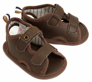 NEXT BABY BOYS BROWN SANDALS SHOES SIZE 0 /  0-3 MONTHS