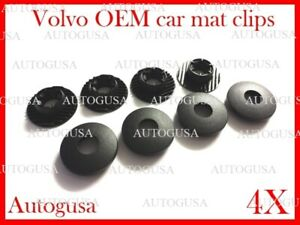 NEW GENUINE OEM VOLVO CAR MAT CLIPS FIXING GRIPS CARPET CLAMPS FLOOR HOLDERS 4X