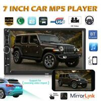 """Android 8.1 Car Stereo GPS Navi MP5 Player Double 2Din WiFi 7"""" Quad Core"""