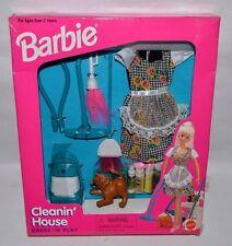 Nrfb-1997-Barbie Cleanin' House-Dress N Play-Fashion-Vacuum-Broom -Duster-Pledge
